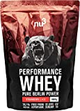 nu3 Performance Whey - Voller Geschmack und gute Löslichkeit bei hohem Proteingehalt (Strawberry, 1...