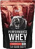 nu3 Performance Whey Protein - Strawberry Blend 1 kg Proteinpulver - Eiweißpulver mit guter...