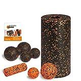 Blackroll Orange STANDARD Komplett-Set - mit Faszienrolle Standard & Mini Faszienrolle, Twinball 8 &...