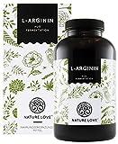 NATURE LOVE® L-Arginin - Vergleichssieger 2019* - 365 vegane Kapseln. Hochdosiert: 4500mg L-Arginin...