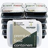 FITPREP® - DAS ORIGINAL - 3-Fach Meal Prep Boxen - 10er Pack - für Meal Prep empfohlen- inkl....