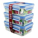 Emsa 508558 Clip & Close Frischhaltedosen | 3-teiliges Set | 3 x 1 L | -40 bis +100 Grad |...