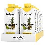 foodspring CocoWhey mit Ananas, 12x330ml, Erfrischender Protein-Drink mit Kokoswasser