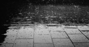 Bei starken Regen hat niemand Lust das Haus zu verlassen