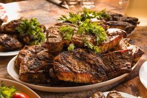 Fleisch gibt es nur zum Abendessen
