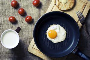 Low Carb Diät Frühstück - Eier aus der Pfanne