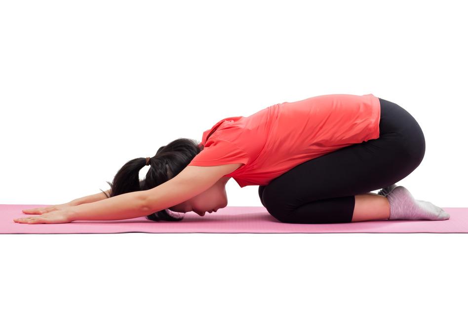 Yoga Übungen - Stellung des Kindes