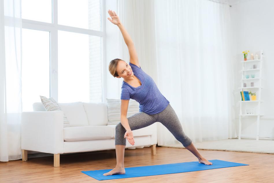Yoga Übungen - Heldendreieck