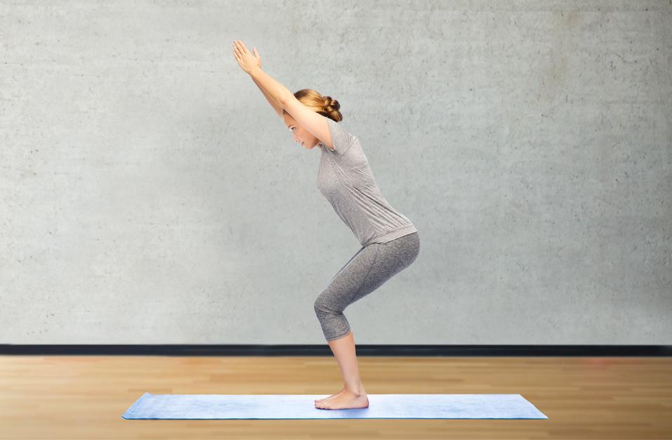Yoga für Anfänger - der Stuhl