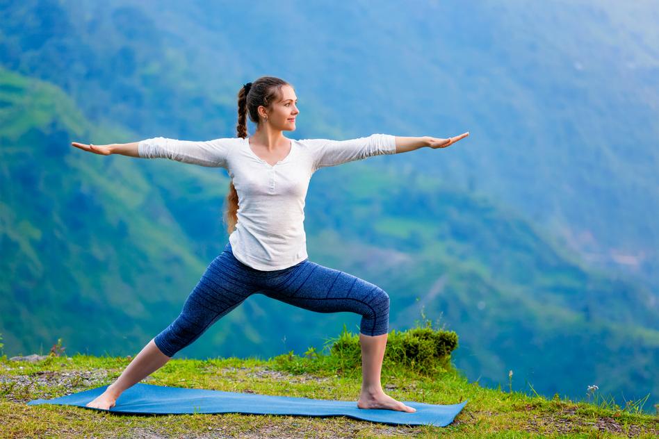 Yoga für Anfänger - der Krieger 2