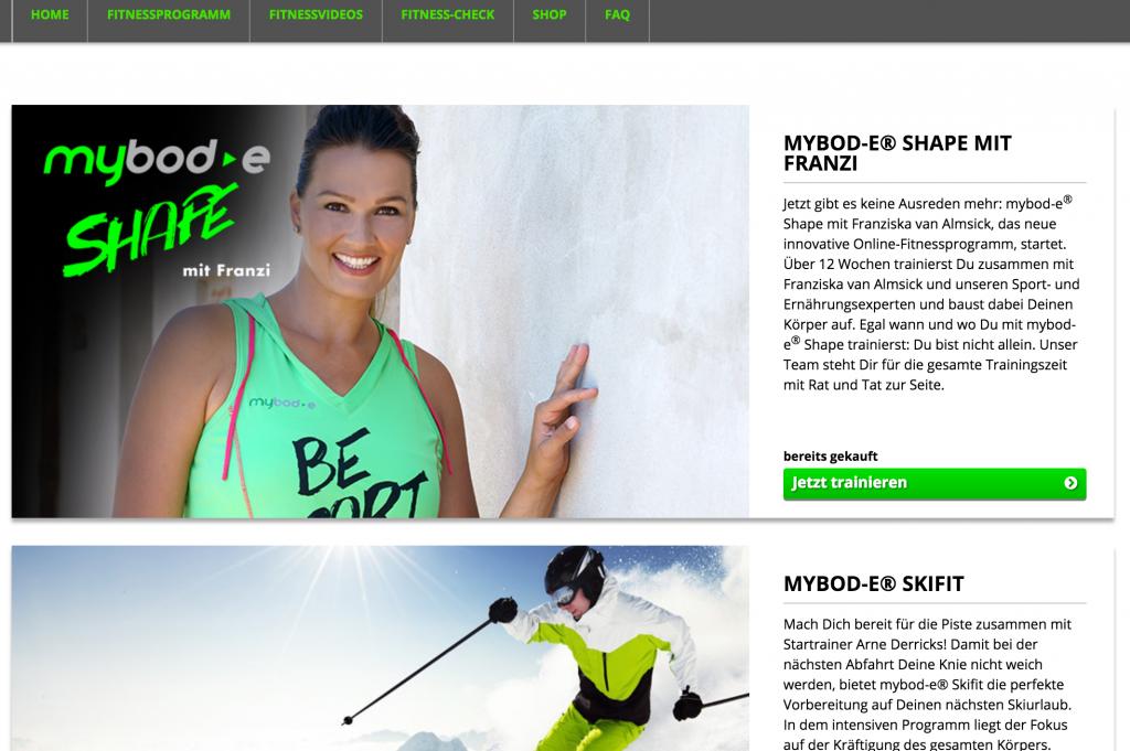 MyBod-e Online Fitnessstudio