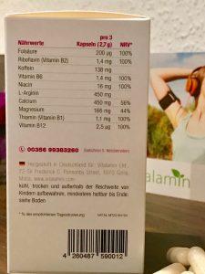 Vitalamin Nährwerte und Inhaltsstoffe