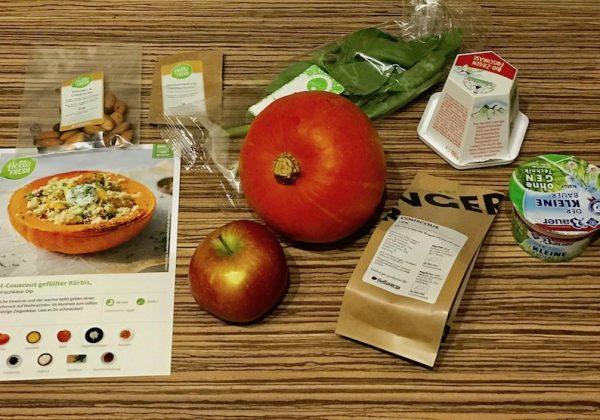 Gericht Nr. 3 – Mit Apfel-Couscous gefüllter Kürbis