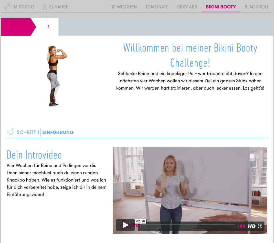 sophia thiel fitnessprogramm update