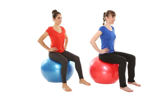 Gymnastikball Übungen für Anfänger