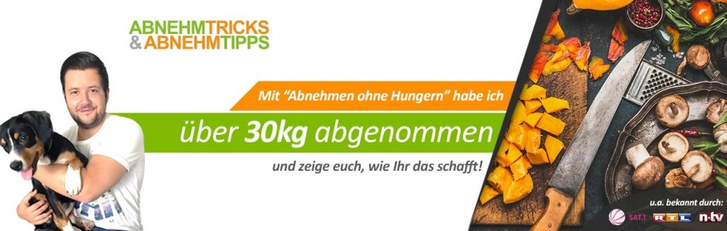 Abnehmen ohne Hunger. Benjamin Oltmann wirbt damit, dass er 30 Kilo abgenommen hat.
