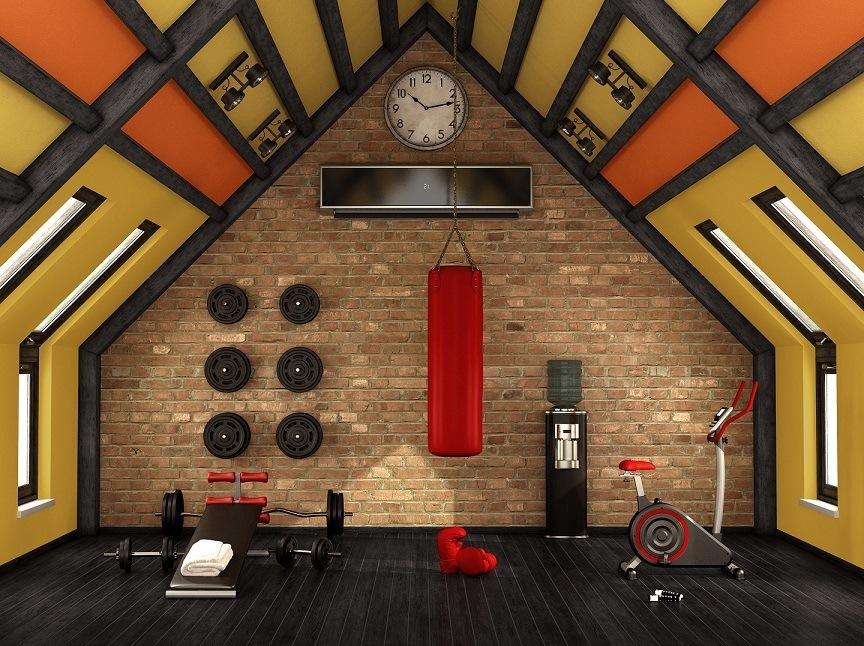 Home Gym Geräte lassen sich ideal im Keller, oder unter dem Dach platzieren